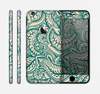 The Delicate Green & Tan Floral Lace Skin for the Apple iPhone 6