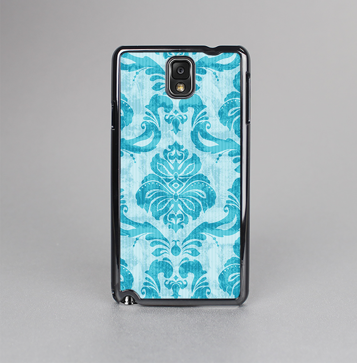 The Delicate Trendy Blue Pattern V4 Skin-Sert Case for the Samsung Galaxy Note 3