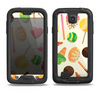 The Delish Treats Color Pattern Samsung Galaxy S4 LifeProof Fre Case Skin Set