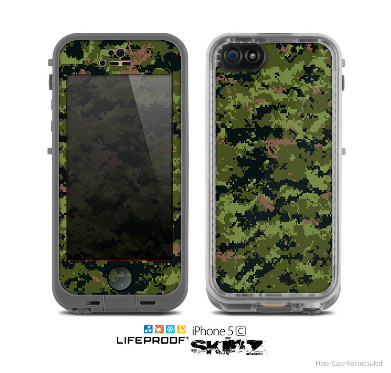 The Digital Camouflage V1 Skin for the Apple iPhone 5c LifeProof Case