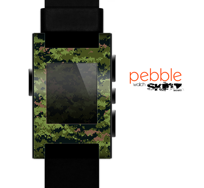 The Digital Camouflage V1 Skin for the Pebble SmartWatch