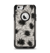 The Dotted Black & White Animal Fur Apple iPhone 6 Otterbox Commuter Case Skin Set