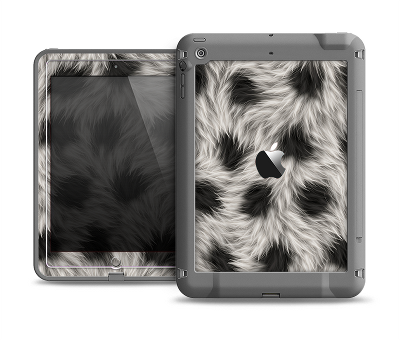 The Dotted Black & White Animal Fur Apple iPad Air LifeProof Fre Case Skin Set