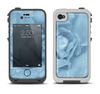The Drenched Blue Rose Apple iPhone 4-4s LifeProof Fre Case Skin Set