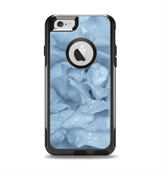 The Drenched Blue Rose Apple iPhone 6 Otterbox Commuter Case Skin Set