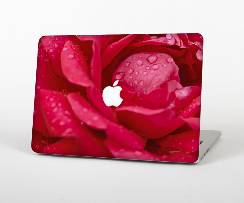 "The Drenched Red Rose Skin Set for the Apple MacBook Pro 15"" with Retina Display"