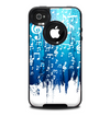 The Dripping Blue & White Music Notes Skin for the iPhone 4-4s OtterBox Commuter Case