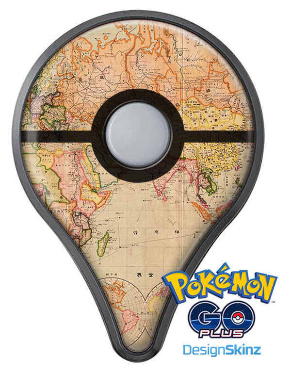 The Eastern World Map Pokémon GO Plus Vinyl Protective Decal Skin Kit