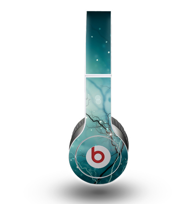 The Electric Teal Volts Skin for the Beats by Dre Original Solo-Solo HD Headphones