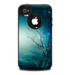 The Electric Teal Volts Skin for the iPhone 4-4s OtterBox Commuter Case