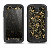 The Elegant Golden Swirls Samsung Galaxy S4 LifeProof Fre Case Skin Set