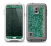 The Emerald Green Choppy Pattern Skin for the Samsung Galaxy S5 frē LifeProof Case
