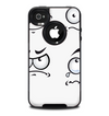 The Emotional Cartoon Faces Skin for the iPhone 4-4s OtterBox Commuter Case