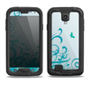 The Escaping Butterfly Floral Samsung Galaxy S4 LifeProof Nuud Case Skin Set
