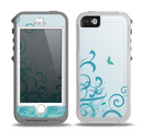 The Escaping Butterfly Floral Skin for the iPhone 5-5s OtterBox Preserver WaterProof Case
