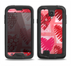 The Etched Heart Layer Pattern Samsung Galaxy S4 LifeProof Nuud Case Skin Set