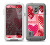 The Etched Heart Layer Pattern Skin Samsung Galaxy S5 frē LifeProof Case