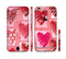 The Etched Heart Layer Pattern Sectioned Skin Series for the Apple iPhone 6s