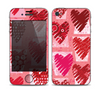 The Etched Heart Layer Pattern Skin for the Apple iPhone 4-4s