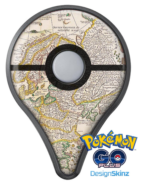 The European Map of Royalty  Pokémon GO Plus Vinyl Protective Decal Skin Kit