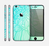 The Faded Blue & Green Subtle Floral Skin for the Apple iPhone 6