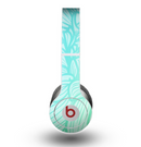 The Faded Blue & Green Subtle Floral Skin for the Beats by Dre Original Solo-Solo HD Headphones
