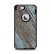The Faded Blue Paint on Wood Apple iPhone 6 Otterbox Defender Case Skin Set