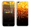 The Faded Gold Glimmer Skin for the Apple iPhone 5c