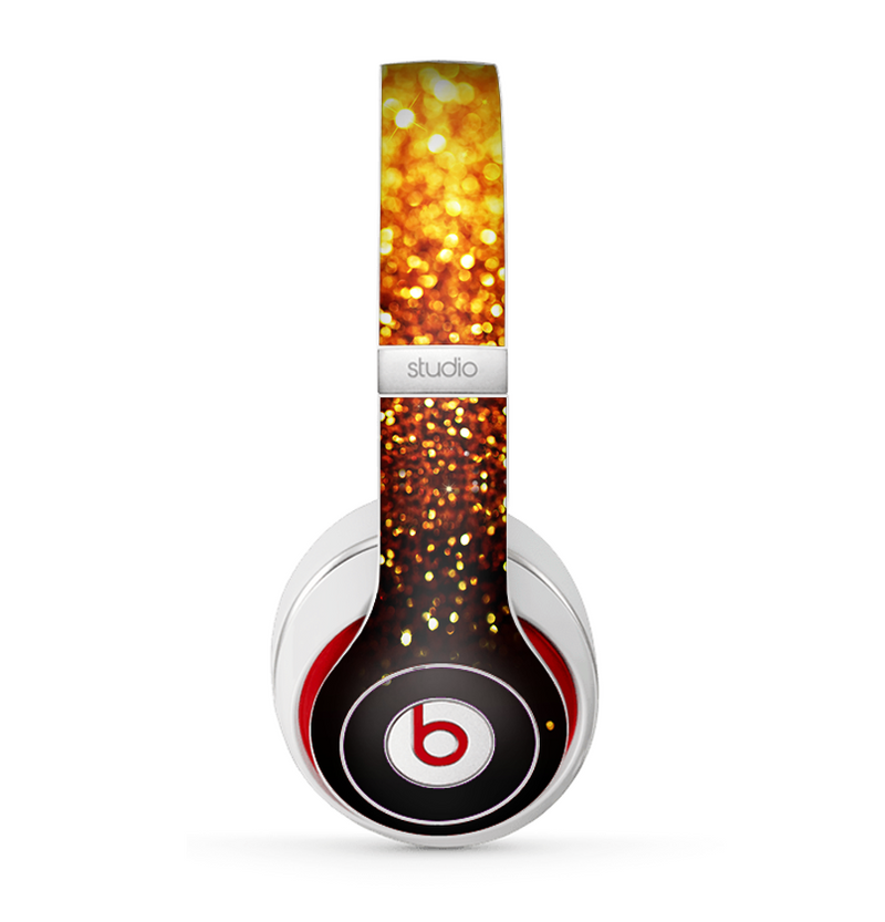 The Faded Gold Glimmer Skin for the Beats by Dre Studio (2013+ Version) Headphones