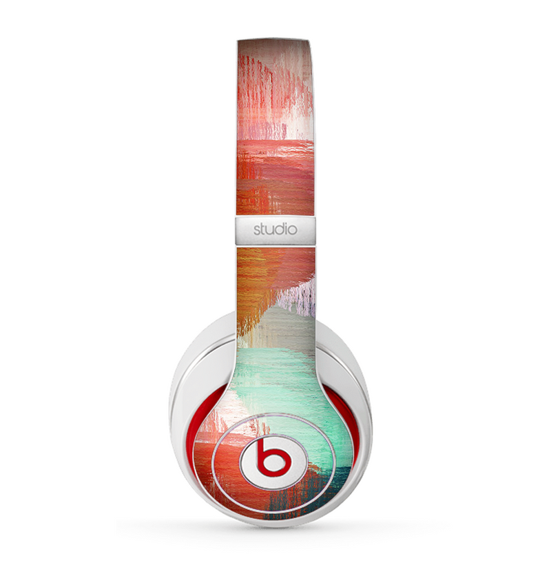 The Faded Neon Painted Hearts Skin for the Beats by Dre Studio (2013+ Version) Headphones
