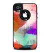 The Faded Neon Painted Hearts Skin for the iPhone 4-4s OtterBox Commuter Case