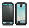 The Faded WaterColor Sail Boat Samsung Galaxy S4 LifeProof Nuud Case Skin Set