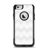 The Faded White Zigzag Chevron Pattern Apple iPhone 6 Otterbox Commuter Case Skin Set