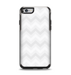 The Faded White Zigzag Chevron Pattern Apple iPhone 6 Otterbox Symmetry Case Skin Set