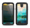 The Faded and Cracked Green Paint Samsung Galaxy S4 LifeProof Nuud Case Skin Set