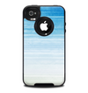 The Fading Light Blue Streaks Skin for the iPhone 4-4s OtterBox Commuter Case