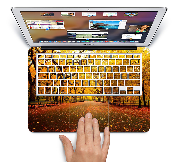 "The Fall Back Road Skin Set for the Apple MacBook Pro 15"" with Retina Display"