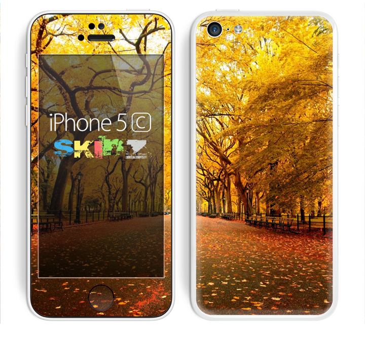 The Fall Back Road Skin for the Apple iPhone 5c