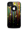 The Falling Neon Color Strips Skin for the iPhone 4-4s OtterBox Commuter Case