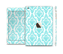 The Fancy Laced Turquiose & White Pattern Full Body Skin Set for the Apple iPad Mini 3