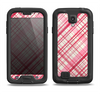 The Fancy Pink Vintage Plaid Samsung Galaxy S4 LifeProof Fre Case Skin Set