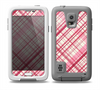 The Fancy Pink Vintage Plaid Skin for the Samsung Galaxy S5 frē LifeProof Case