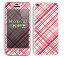 The Fancy Pink Vintage Plaid Skin for the Apple iPhone 5c