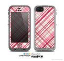 The Fancy Pink Vintage Plaid Skin for the Apple iPhone 5c LifeProof Case