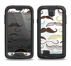 The Fashion Mustache Variety On White Samsung Galaxy S4 LifeProof Fre Case Skin Set