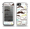 The Fashion Mustache Variety On White Skin for the iPhone 5-5s OtterBox Preserver WaterProof Case