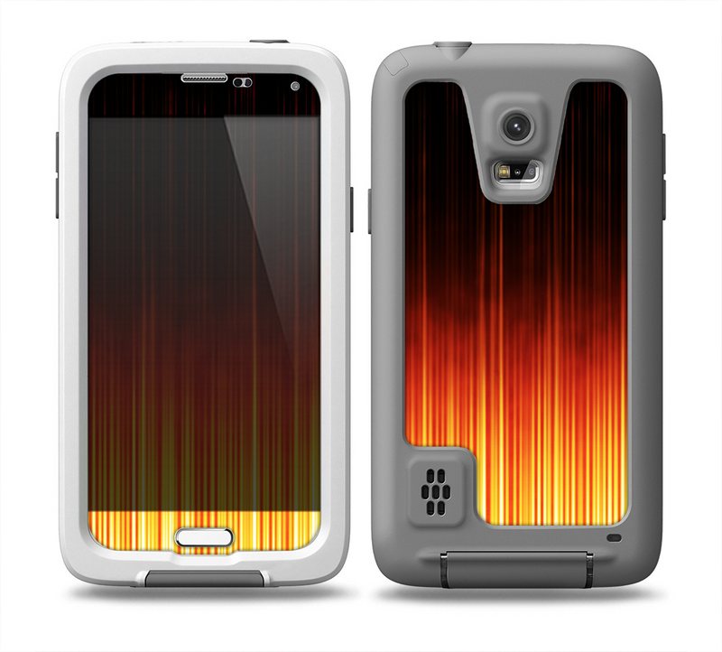 The Fiery Glowing Gradient Stripes Skin for the Samsung Galaxy S5 frē LifeProof Case