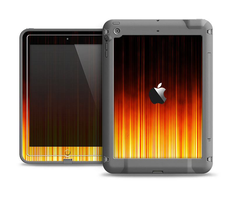 The Fiery Glowing Gradient Stripes Apple iPad Air LifeProof Fre Case Skin Set