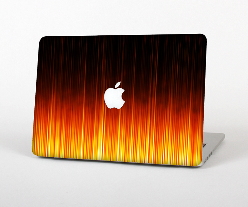 "The Fiery Glowing Gradient Stripes Skin Set for the Apple MacBook Pro 15"" with Retina Display"