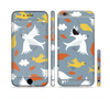 The Flying Vector Birds Pattern Sectioned Skin Series for the Apple iPhone 6 Plus